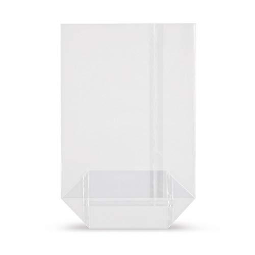 Elke-Plastic OPP Kreuzbodenbeutel 30mµ I 115 x 190 I 50 Stück I...