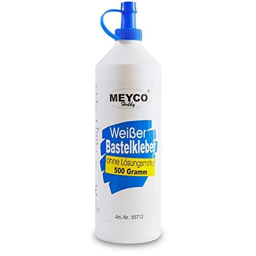 Meyco weißer Bastelkleber 500 g - trocknet transparent - ohne...