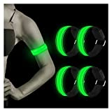 LED Armband, 4 Stück Reflective LED leucht Armbänder Lichtband...
