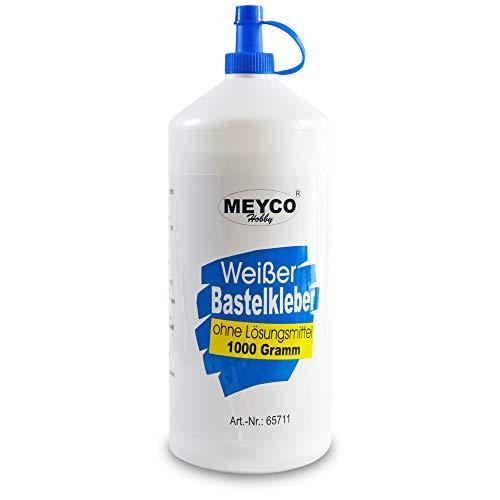 Meyco weißer Bastelkleber 1000 g - trocknet transparent - ohne...