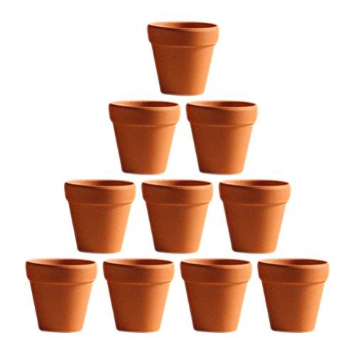 OUNONA 10 Stücke 3x3 cm Kleine Mini Terrakotta Topf Ton Keramik...