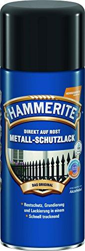 AKZO NOBEL (DIY HAMMERITE) Metall-Schutzlack glänzend Schwarz...