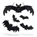 SZILBZ Halloween Fledermäuse,5 Stücke Realistische schauende...