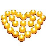 24 LED Kerzen, Diyife® LED Flammenlose Tealights, Flackern...