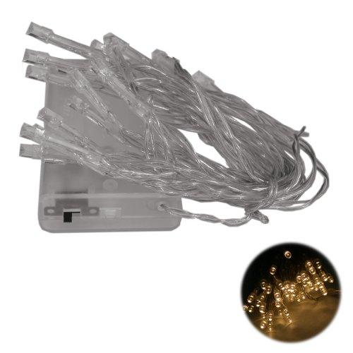 20er LED Lichterkette batteriebetrieben warmweiss