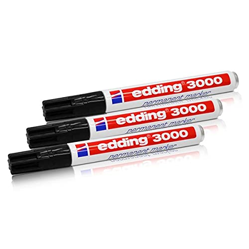 edding 3000 Permanentmarker, 1,5-3 mm, Nachfüllbar, schwarz,...