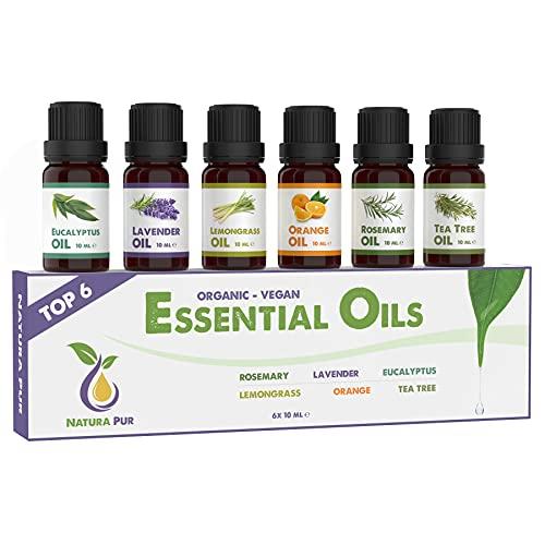 Ätherische Öle Set BIO - 100% naturrein - Duftöle für...
