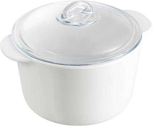 Pyrex Kasserolle rund, mit Deckel, Glas, Inhalt: 2 Liter