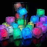 12 Stück LED Eiswürfel für Getränke, Flüssigsensor Blinken...