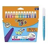 BIC Kids Fasermaler Kid Couleur Baby Stifte, 12 auswaschbare...