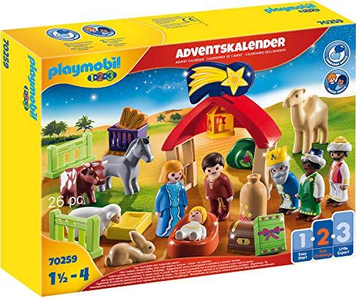PLAYMOBIL Adventskalender 70259 Weihnachtskrippe, Für Kinder ab...