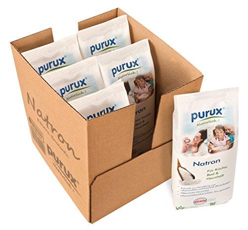 Purux Natron Pulver 5kg + 1kg Bonus, Lebensmittelqualität...