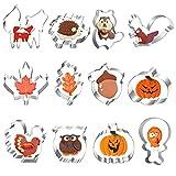 12 Stück Herbst Erntedankfest Ausstechformen Set, Edelstahl...