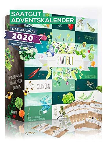Saatgut Adventskalender für Gärtner zum einsäen I 24 leckere...