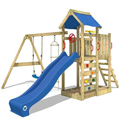 WICKEY Spielturm Klettergerüst MultiFlyer mit Schaukel & blauer...