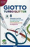 Giotto 4258 00 - Turbo Glitter, 8 Fasermaler