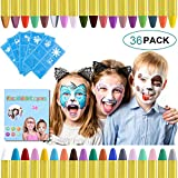 URAQT 36 Farben Kinderschminke Set Fasching,Gesichtsfarbe...
