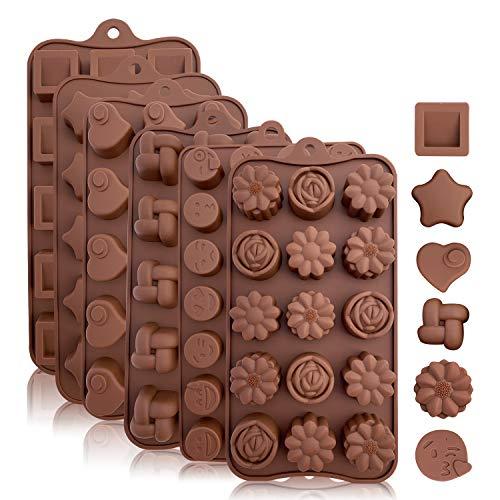Backformen aus Silikon zum Backen, Bonbons und Schokolade: Kleine...