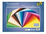 folia 6725/50 99 - Tonpapier Mix, 25 x 35 cm, 130 g/qm, 50 Blatt...