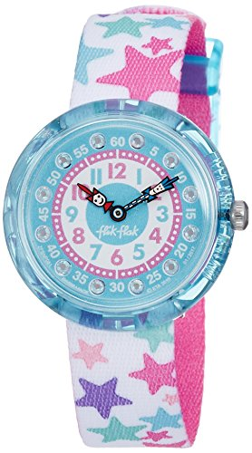 Flik Flak Mdchen Analog Quarz Uhr mit Stoff Armband FBNP081