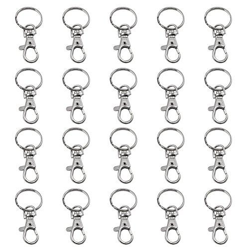 TRIXES 20 kleine abnehmbare Drehverschlüsse für Schlüsselringe...