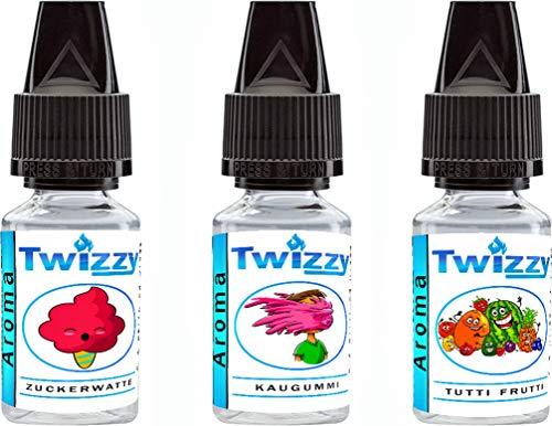 3 x 10ml Twizzy® Sticky Fun Aroma Bundle | Zuckerwatte,...
