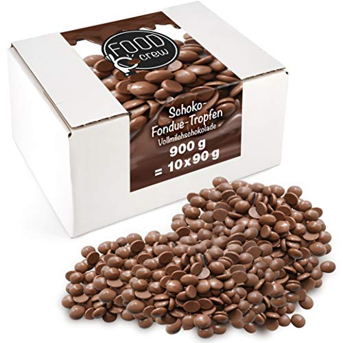 Sweet Wishes 900g Belgische Fondue-Schokolade Vollmilch-Drops -...