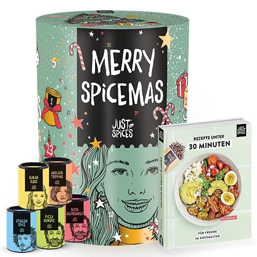 Just Spices Weihnachtskalender mit 24 Gewürzmischungen + Kochbuch