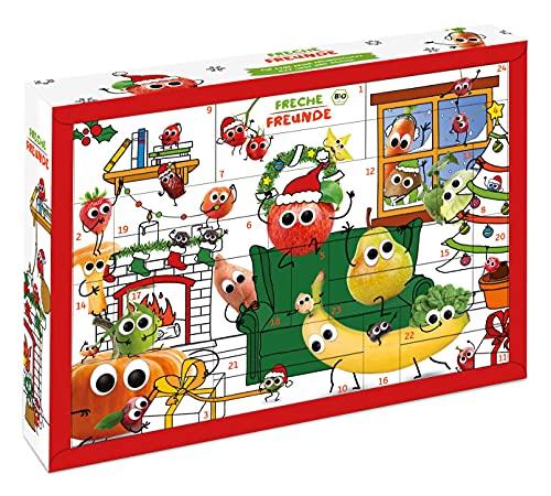 FRECHE FREUNDE Weihnachtskalender gefüllt mit Bio Kinder-Snacks & Spaß