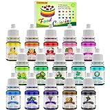 Lebensmittelfarbe - 15 Flüssige Lebensmittel Farben Set für...