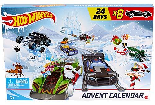 Hot-Wheels GJK02 - Adventskalender 2020 mit Spielzeug für 24...