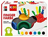 Marabu 0303000000085 - Kids Fingerfarbe Set mit 6 leuchtenden...