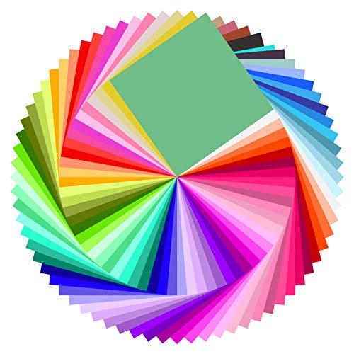 Baoweihua Origami Papier, 100 Blatt 50 Farben 20 x 20cm Farbiges...