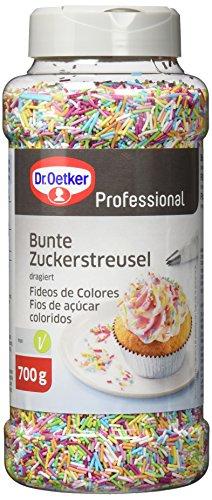 Dr. Oetker Professional Bunte Zuckerstreusel, Zum Backen und...