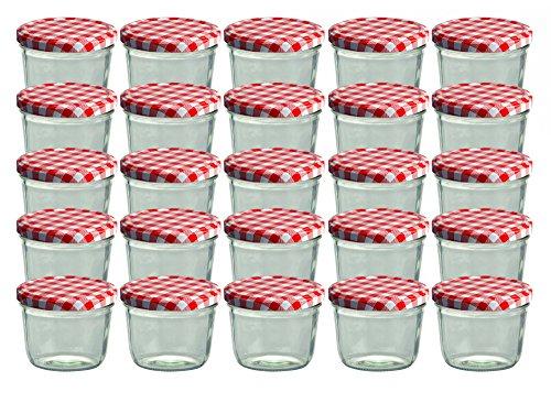 CapCro 25er Set Sturzglas 230 ml Marmeladenglas Einmachglas...