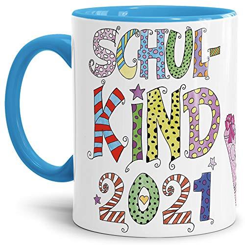 Tassendruck Geschenk Tasse zur Einschulung für Kinder mit Spruch...