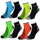 8 oder 12 Paar Sportsocken Herren Sneaker Socken NEON mit...