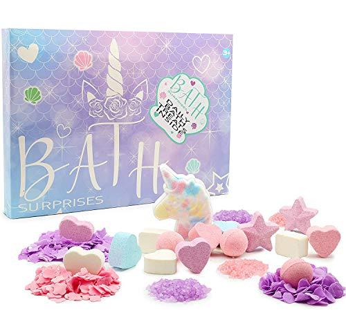 KreativeKraft Badebomben, Bath Bomb Set Für Kinder, 24er...