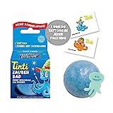 Tinti Zauberbad Blau - Sprudelnde Badekugel mit Überraschung,...