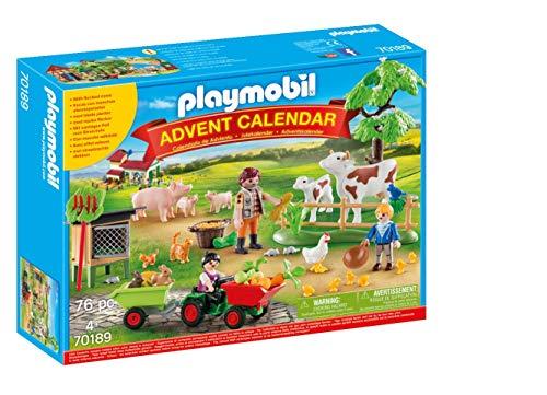 PLAYMOBIL Adventskalender 70189 Auf dem Bauernhof, Ab 4 Jahren