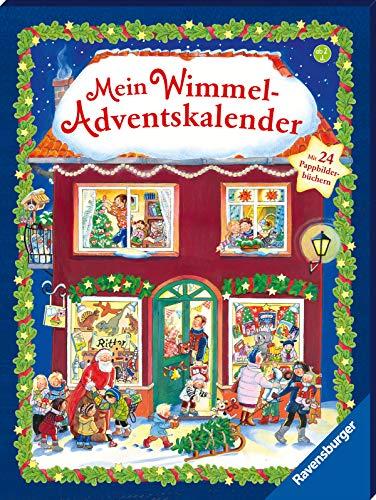 Wimmel-Adventskalender mit 24 Pappbilderbüchern