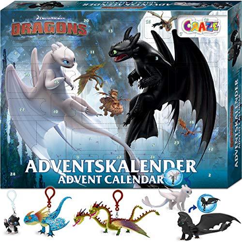 CRAZE Adventskalender 2020 DRAGONS Drachenzähmen Spielfiguren...