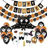 Jonami Halloween Deko Set, Happy Halloween Dekoration Girlande,...