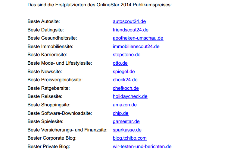 """Wir sind """"Onlinestar2014"""" der beliebteste private Blog 2014! 8"""