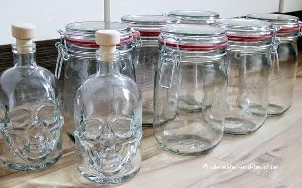 Günstige Einmachgläser und ausgefallene Likörflaschen 2