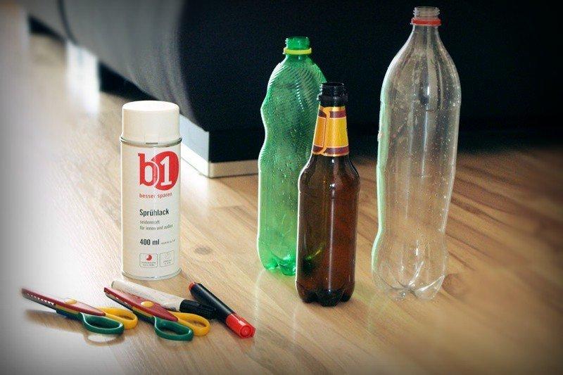 DIY Zahnputzbecher basteln aus Plastikflaschen (Upcycling) 13