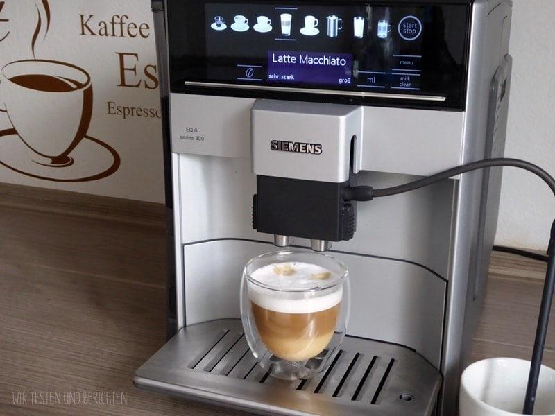 Siemens EQ 6 300 Test Latte Macchiato 2