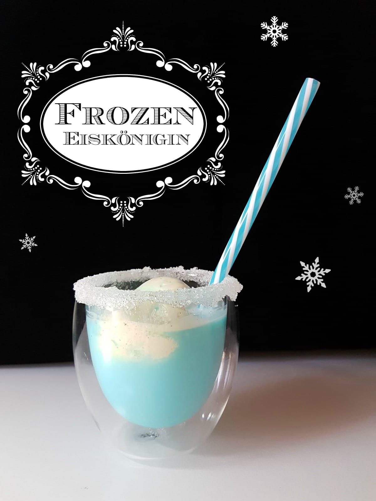 Du planst einen Kindergeburtstag oder eine Frozen Eiskönigin Mottoparty? Mein Eiskönigin Rezept-Tipp: Blauer Frozen Kindercocktail mit Vanilleeis. Zum Rezept