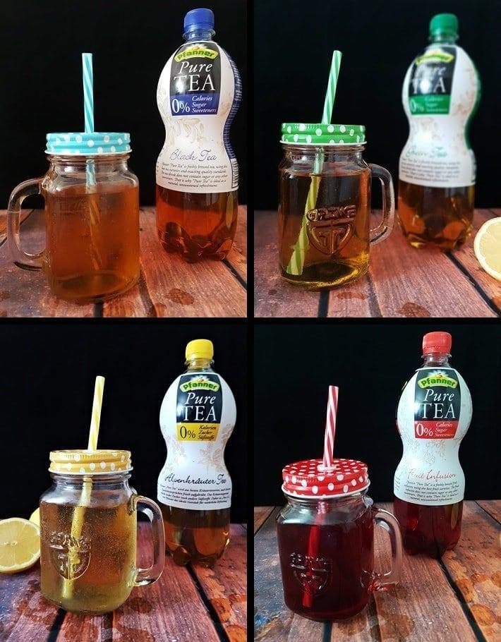 Pfanner Pure Tea Sorten