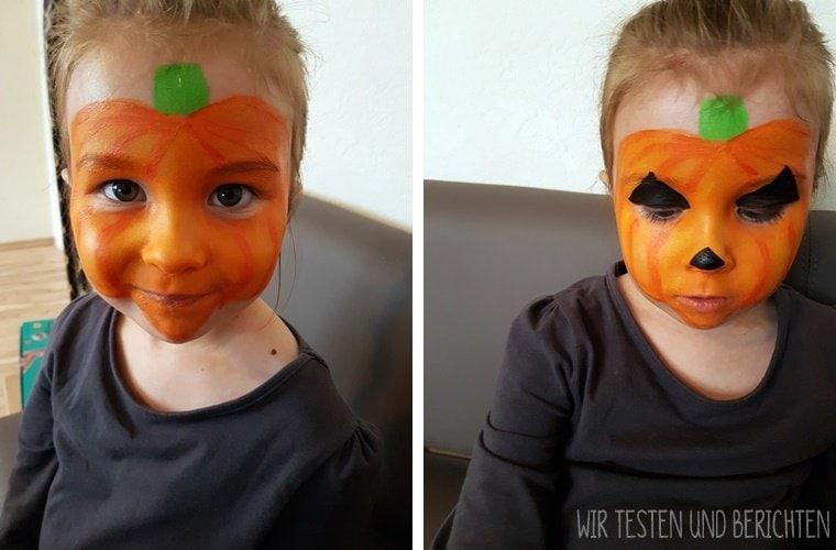 Anleitung Kürbisgesicht schminken Kinder